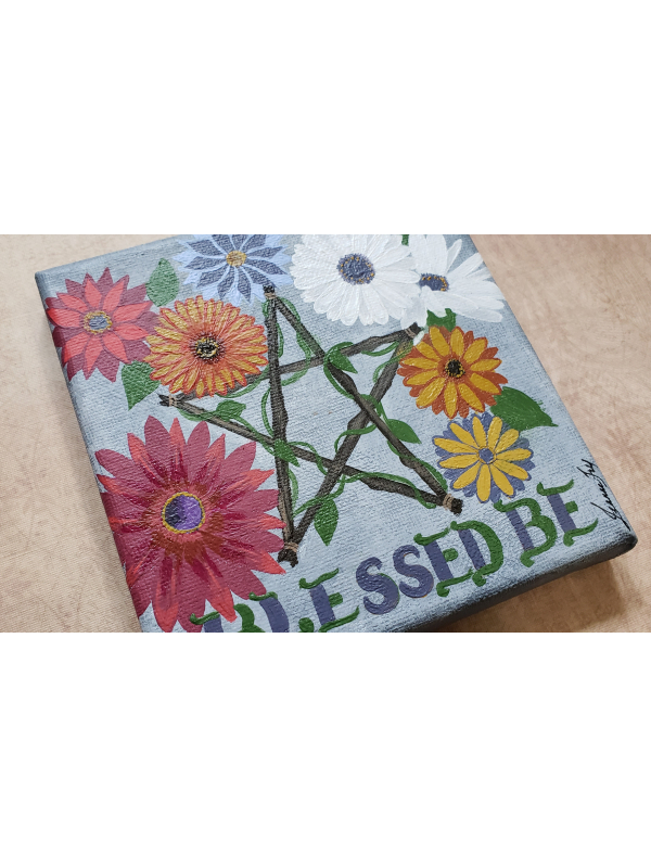Blessed Be - Original Canvas Painting for a Blessed Home or Altar Art - 5x5