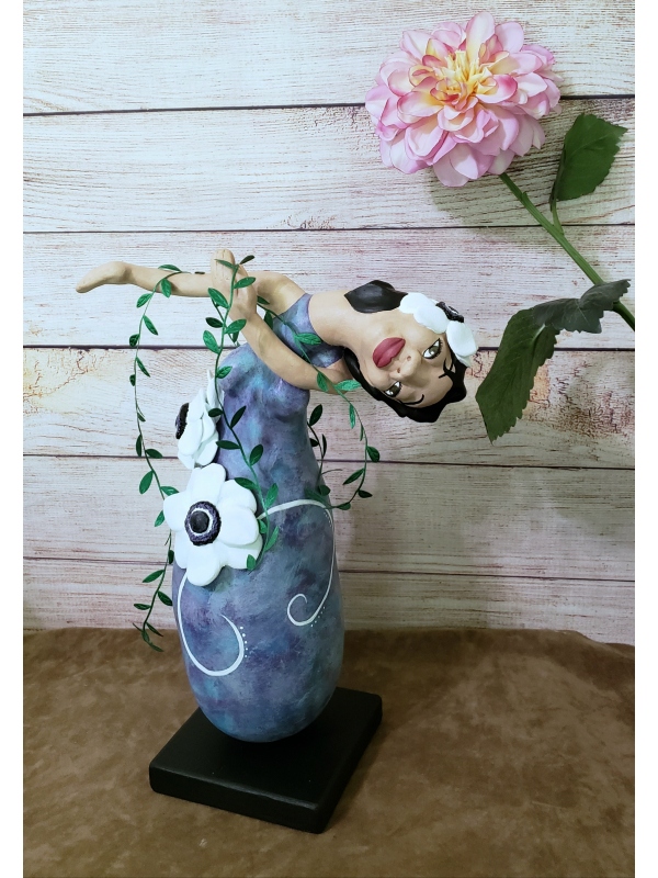 Goddess of Anemone - OOAK Spirit Doll - Daughter of the Wind