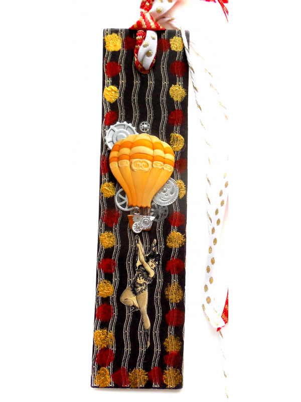 For the Circus Collectors - Original Mixed  Media Circus Bookmark with Tassel
