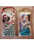 Mermaid Holiday Bundle - OOAK Painted Muslin Ornaments - Set of 2