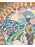 Detailed View of Butterfly Mandala Painting in Art Nouveau Color Palette