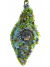 Uplifting Winter Jewelry Chartreuse Beaded Pendant Necklace OOAK Wearable Art