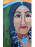 Close View of Water is Life Native Woman at Waterfall Original Painting on Wood