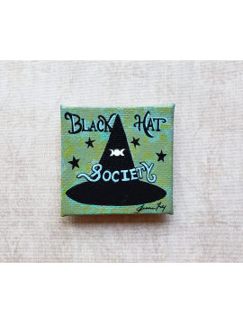 Black Hat Society - Fine Art Magnet - Miniature Painting
