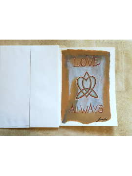 Love Always - Triskelion - Original Painting Greeting Card 5x7