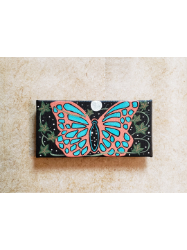 Butterfly under the Ivy Moon - Original Miniature Painting- Fine Art Magnet