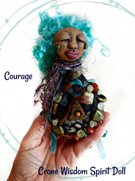 OOAK Beaded Spirit Doll for Courage