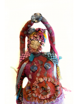 The Muse of Dance OOAK Beaded Full Figure Folk Art Doll of the Nine Muses