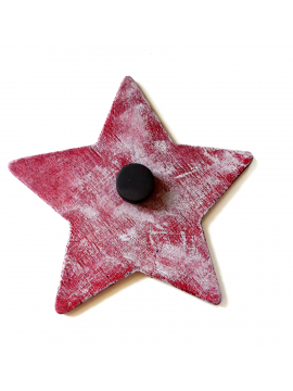 Back View of Original Painted Star Magnet as Feminist Resistance Art