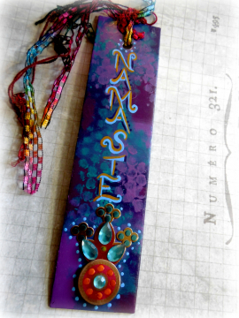 Namaste Original Mixed Media Bookmark a Gift for the Book Lover