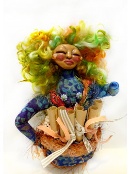Made to Order - OOAK Art Doll for Self Care - Wild Woman and Pocket of Love