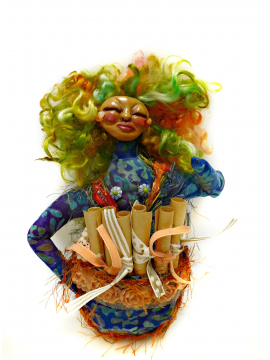 OOAK Cloth and Clay Art Doll for Womens Empowerment