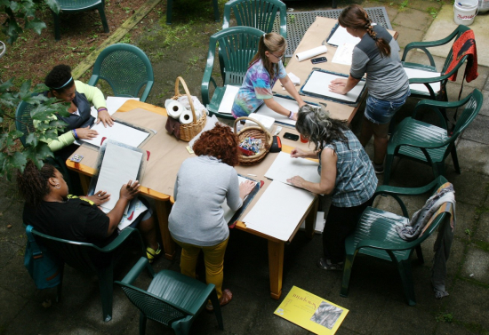 Overview Photo of Touch Drawing Workshop