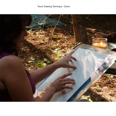 Jeanne demonstrating Touch Drawing