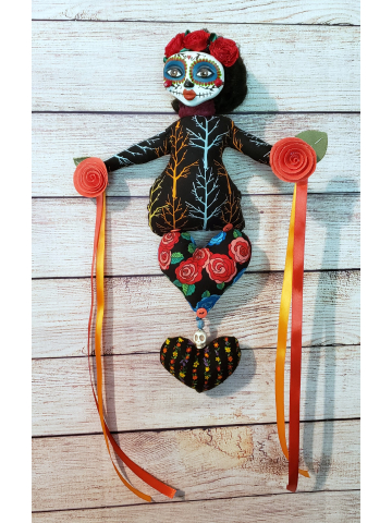 Day of the Dead - OOAK Art Doll -  for Celebrating our Ancestors