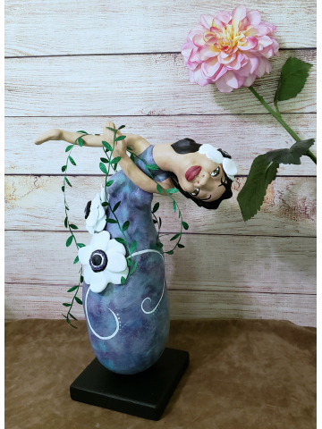 RESERVED FOR MARGO - Goddess of Anemone - OOAK Spirit Doll - Daughter of the Wind