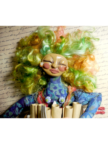 Made to Order - OOAK Art Doll for Self Care - The Wild Woman and her Pocket of Love