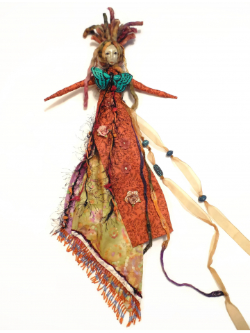 The Arrival - Contemporary Folk Art Doll