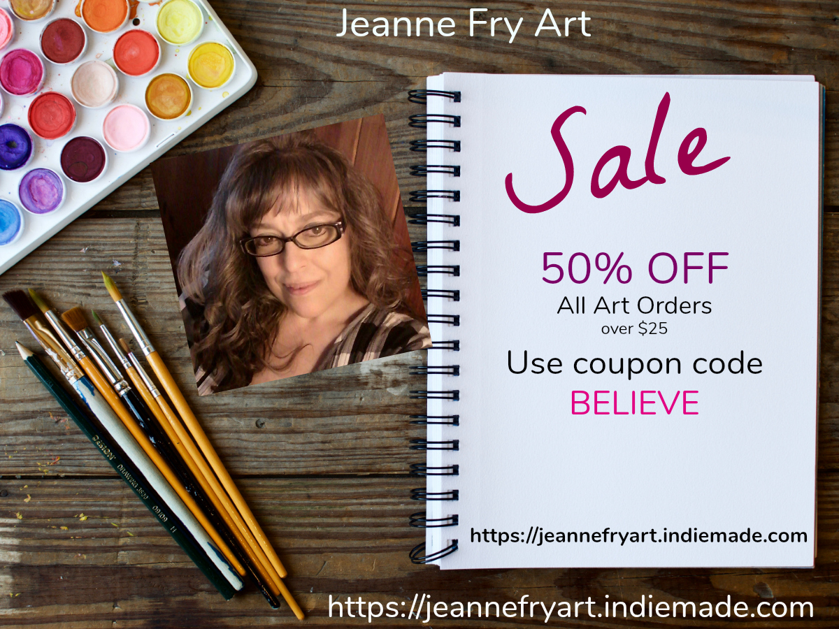Art Sale 50 Percent Off Original Contemporary Folk Art