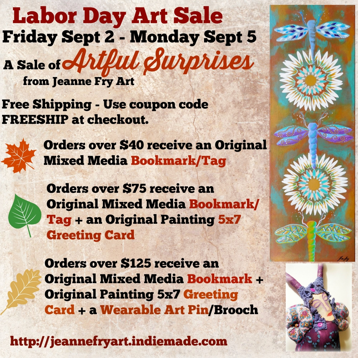 Labor Day Art Sale at Jeanne Fry Art