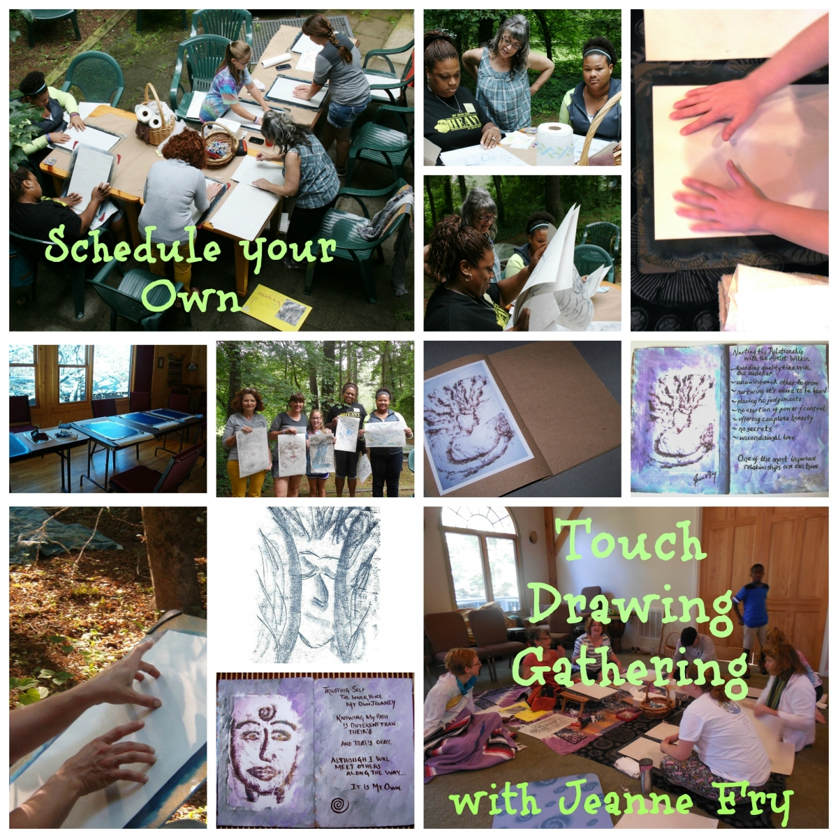 Schedule your Own Mini Touch Drawing Gatherings