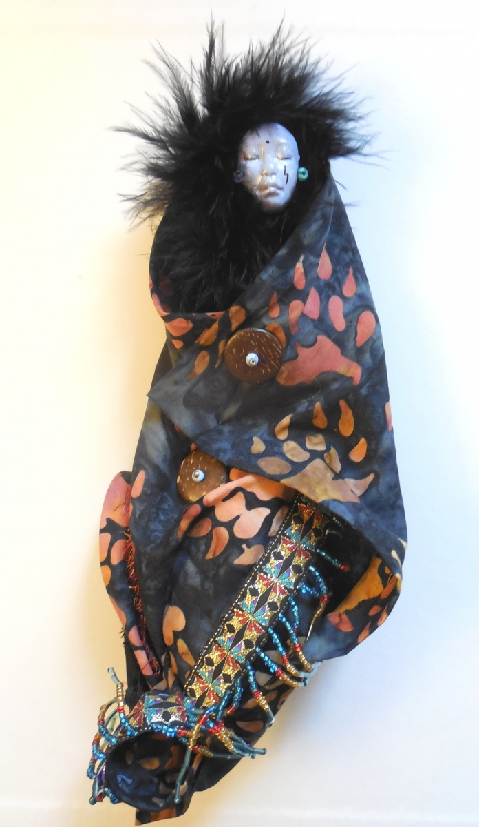 Cloth and Clay Spirit Doll by Jeanne Fry